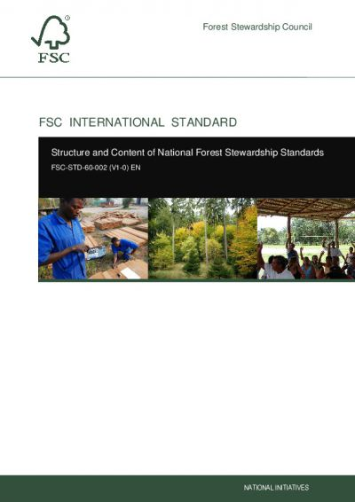 FSC-STD-60-002 (V1-0) Structure and Content of National Forest Stewardship Standards