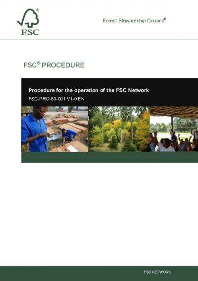 FSC-PRO-60-001 (V1-0) EN NETWORK PROCEDURE