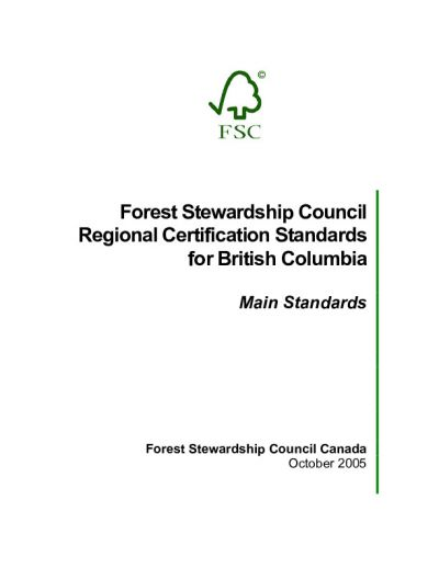 FSC-STD-CAN-01-2005 Canadian British Colombia EN
