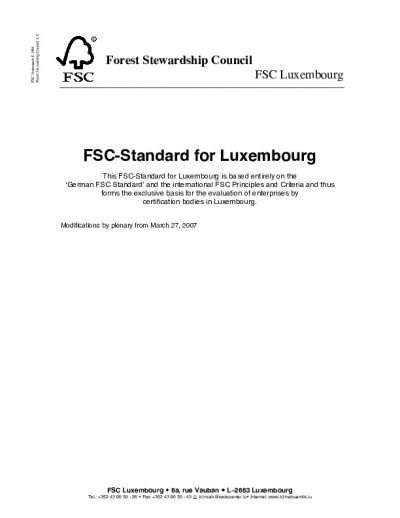 FSC-STD-LUX-01-2007 Luxembourg Natural and Plantation EN