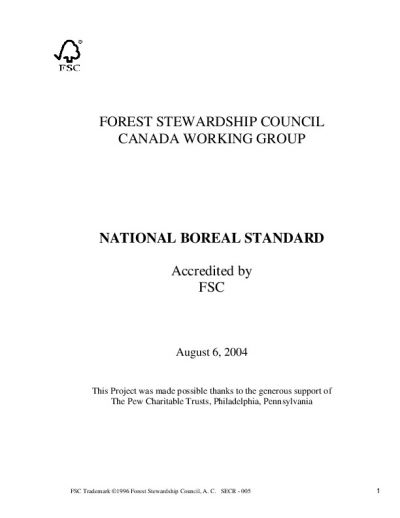 FSC-STD-CAN-03-2004 Canadian Boreal EN