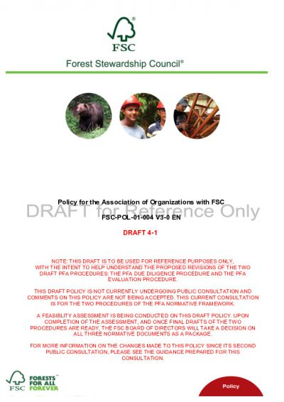 FSC Policy for Association FSC-POL-01-004 V3_D4.1