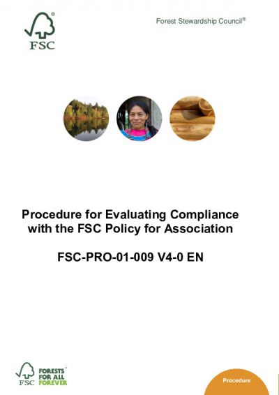 FSC PfA Evaluation Procedure FSC-PRO-01-009 V4_D1_4