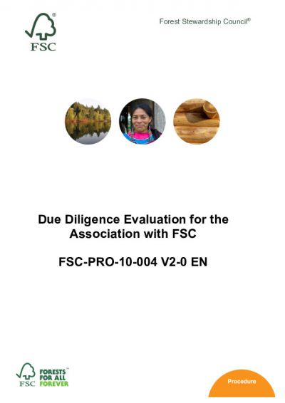 FSC PfA Due Diligence Procedure FSC-PRO-10-004 V2_D4.2