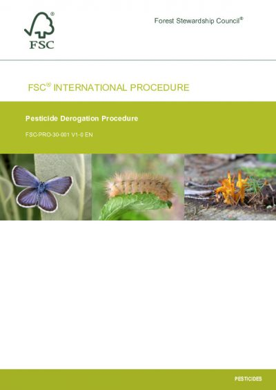 FSC-PRO-30-001 V1-0 EN Pesticides Derogation Procedure