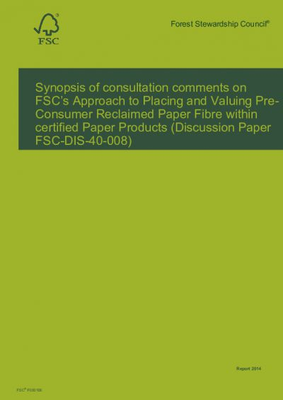 Consultation report EN FSC-DIS-40-008