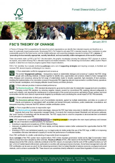 FSC Theory of Change: at a glance (1 page)