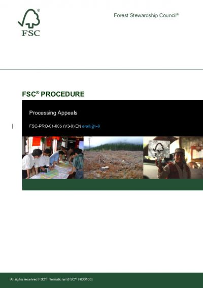 FSC-PRO-01-005 (V3-0) EN Processing Appeals Tracking Changes
