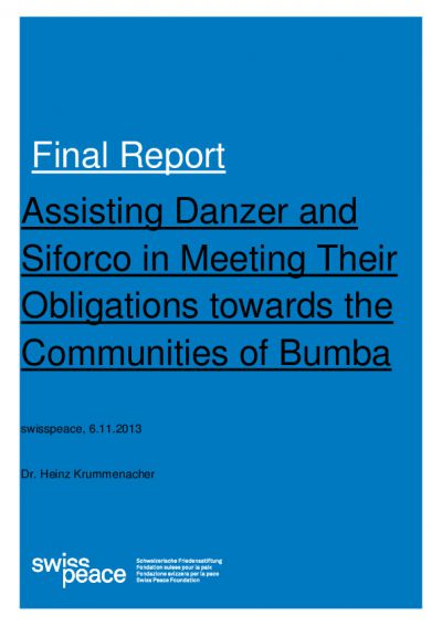Swisspeace final report Bumba communities ENG