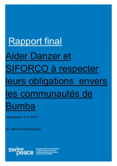 Swisspeace Final Report Bumba Communities FR