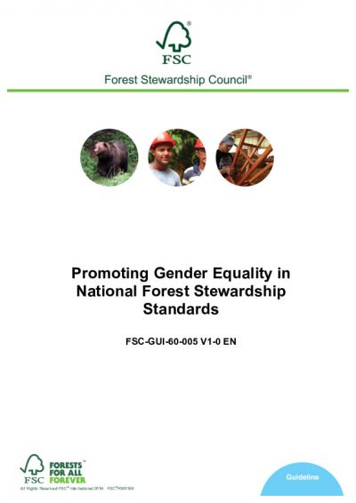 FSC-GUI-60-005 (V1-0) Promoting Gender Equality in National Forest Stewardship Standards