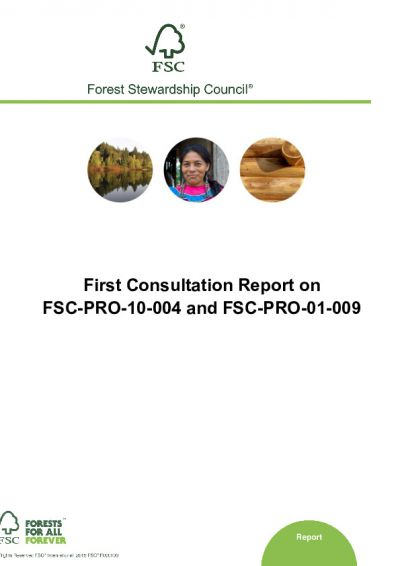 Consultation Report on FSC-PRO-10-004 and FSC-PRO-01-009_First consultation