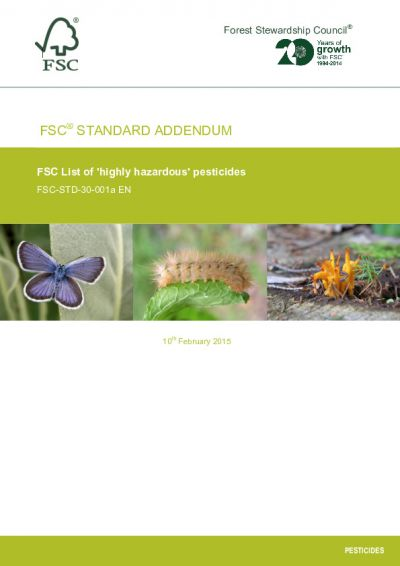 FSC-STD-30-001a EN FSC LIST OF 'HIGHLY HAZARDOUS' PESTICIDES