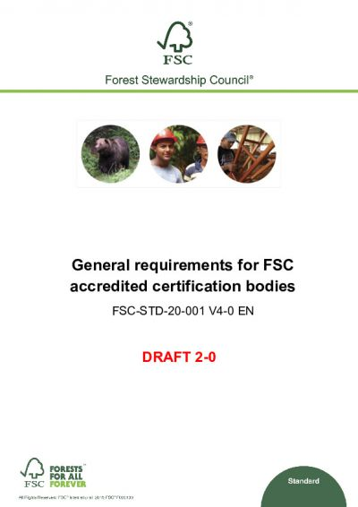 FSC-STD-20-001 V4-0 D2-0 EN General Requirements for FSC CBs