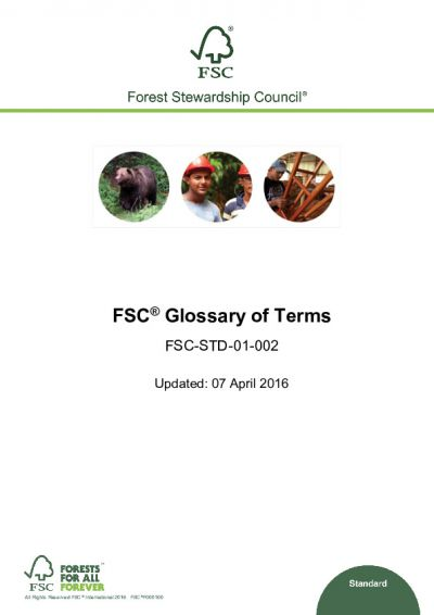 FSC Glossary of Terms (FSC-STD-01-002)