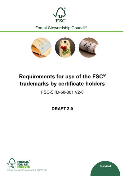Second Draft - Trademark Standard FSC-STD-50-001 V2-0