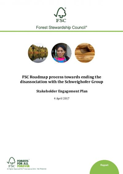 FSC Stakeholder Engagement Plan_FSC roadmap for Schweighofer_April 2017