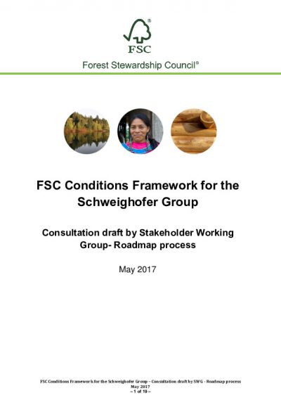 FSC Conditions Framework_CONSULTATION DRAFT_FSC Roadmap for Schweighofer_May 2017