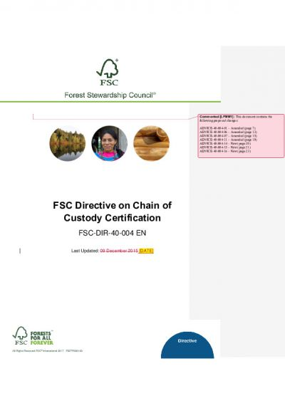 FSC-DIR-40-004_EN_CoC Certification_Draft_05 June 2017