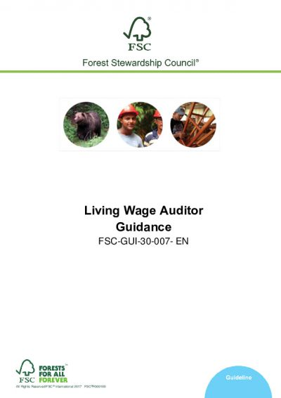FSC-GUI-30-007 EN (V1-0) Living Wage Auditor Guidance