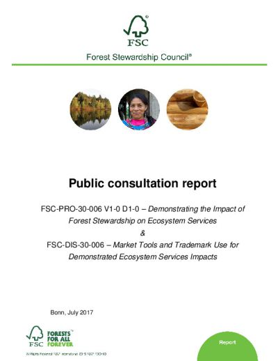 First consultation report FSC-PRO-30-006