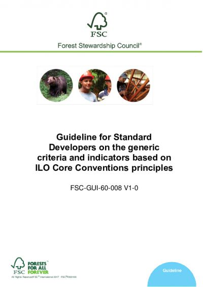 FSC-GUI-60-008 V1-0 EN Guideline for Standard Developers on the generic criteria and indicators based on ILO Core Conventions principles