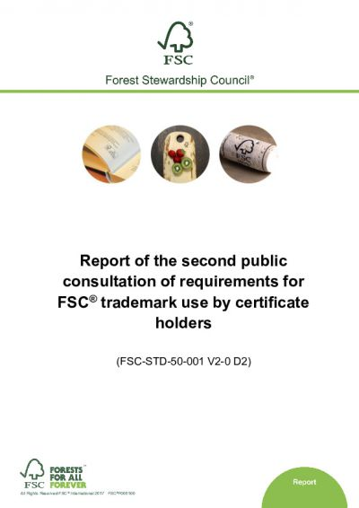 Report of 2nd public consultation of FSC-STD-50-002 V2-0 D2