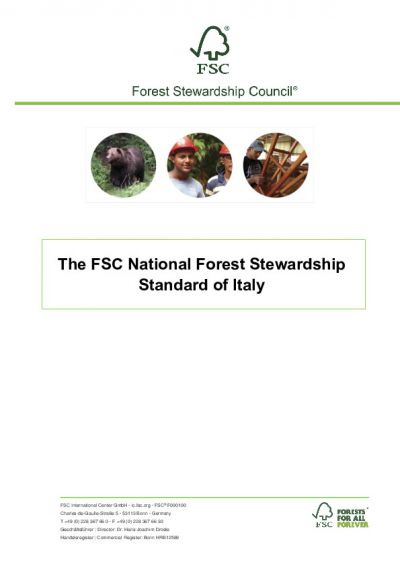 The FSC National Forest Stewardship Standard for Italy