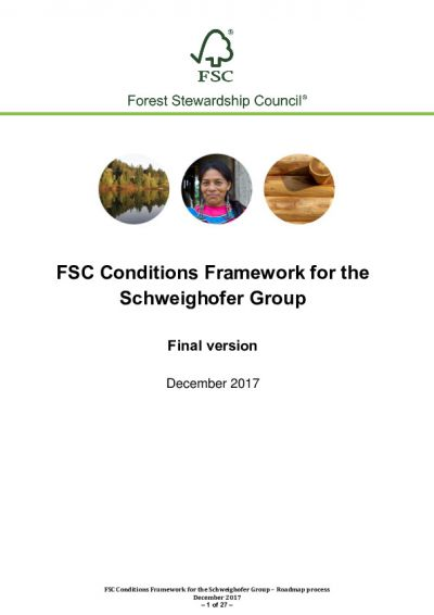 FSC Conditions Framework for the Schweighofer Group_20 December 2017