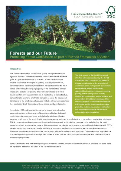 Promoting FSC Forest Certification Rio20 (English)