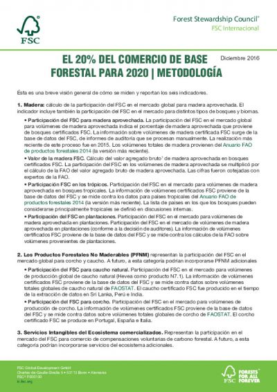 FSC Methodology 20-Percent-Of-Forest-Based-Trade-By-2020_ESP