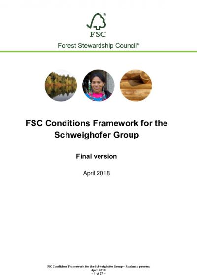 Final FSC Conditions Framework for the Schweighofer Group_19 April 2018