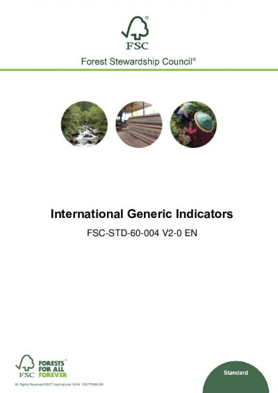 FSC-STD-60-004 V2-0 EN International Generic Indicators