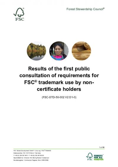 Results of the first public consultation of requirements for FSC trademark use by non-certificate holders