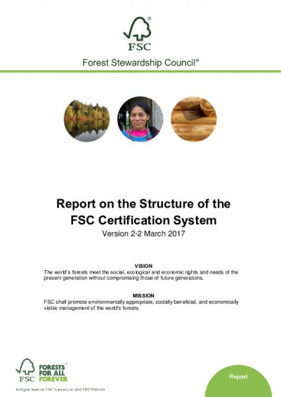 Report on the Structure of the FSC Certification System