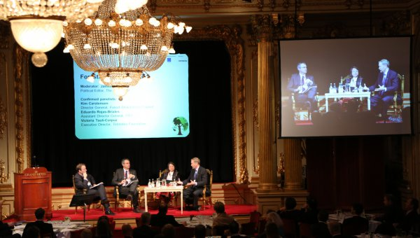 Kim Carstensen promotes 'optimisation of resource use' at the World Forest Summit in Sweden