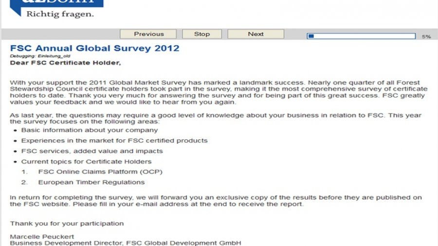 Global Market Survey 2012 (© FSC A.C.)