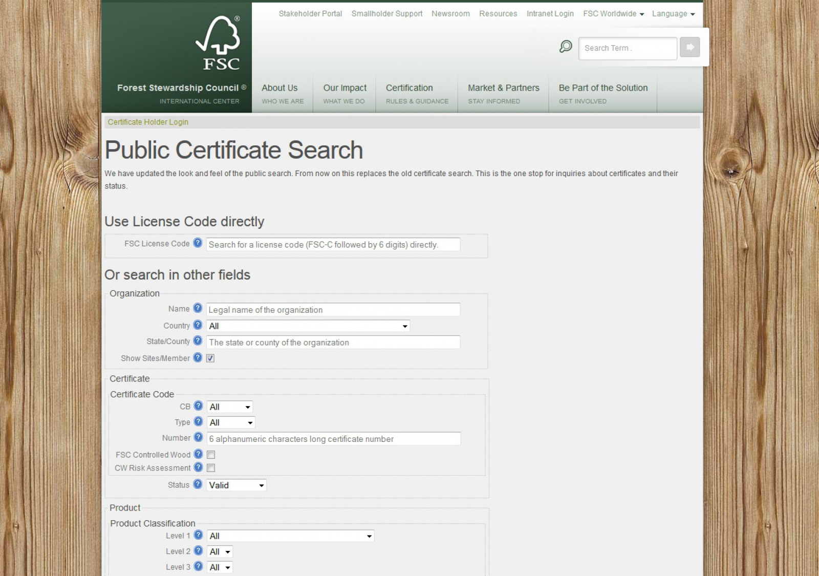 Fsc Launches A New Version Of Its Public Certificate Search 2012