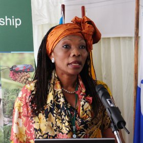Ms Cécile Ndjebet, President of African Women's Network For Community Management of Forests and National Coordinator of Cameroun Ecology,